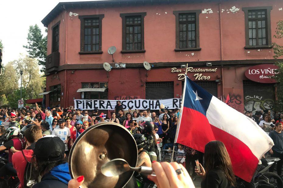 protestas en latinoamérica chile